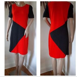 YOANA BARASCHI Sheath Colorblock Knit Career Dress